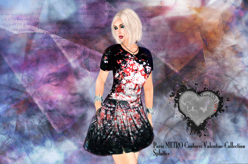 Valentine Splatter dress