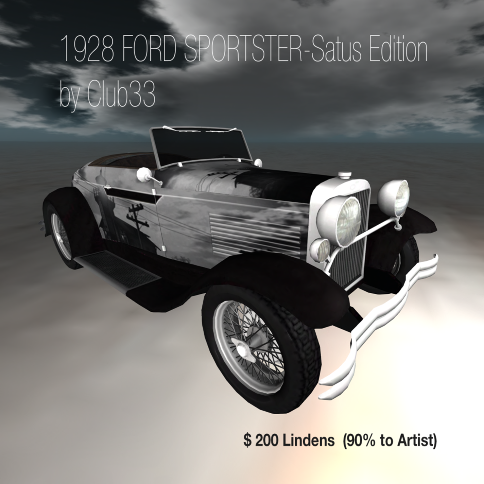 1928 FORD SPORTSTER-Satus Edition by Club33 $200L