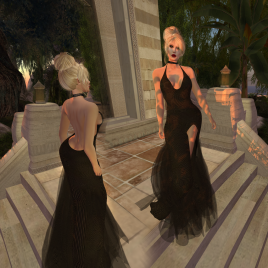 Paris METRO Couture_ Grand Entrance Black Gold Mesh Gown