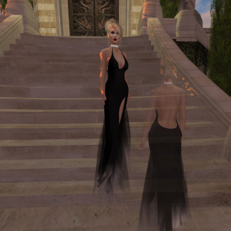 Paris METRO Couture_ Grand Entrance Black Mesh Gown