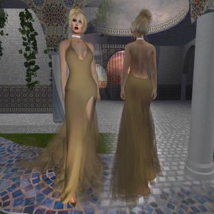 Paris METRO Couture_ Grand Entrance Gold Mesh Gown