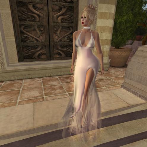 Paris METRO Couture_ Grand Entrance White Mesh Gown