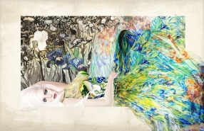 Van Gogh Irises Gown