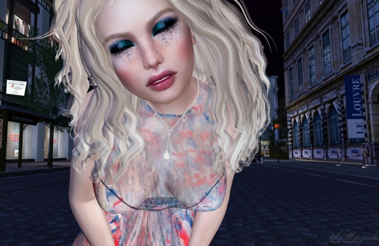 Bastille Day Gown. PMC'c appliers are so good they look like mesh.