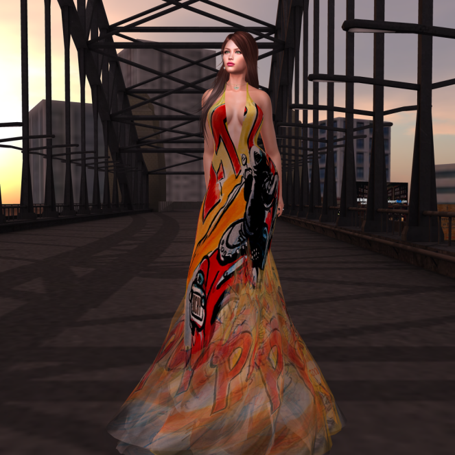Paris METRO Couture_ V Biker Story Gown in Comics
