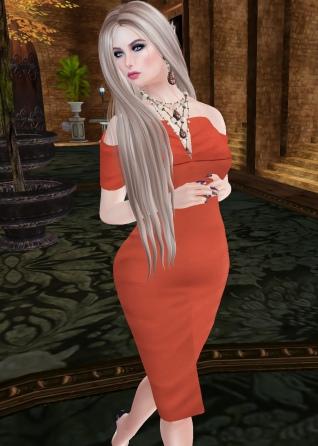Vera Off Shoulder Pencil Dress
