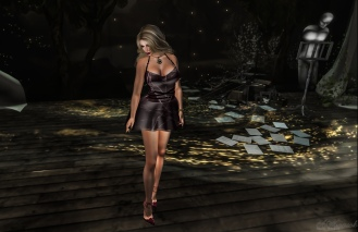 Abstract Strap Dress & Shoes