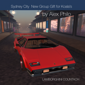 Sydney City New Group Gift by Alex Philo LAMBORGHINI COUNTACH