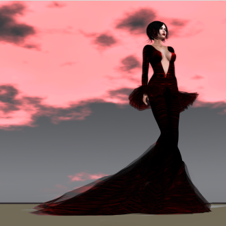Paris METRO Couture_ Blood Widow Gown with Appliers