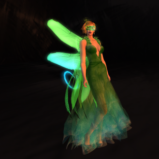 Paris METRO Couture_ Glow Fairy II - Gown wAppliers