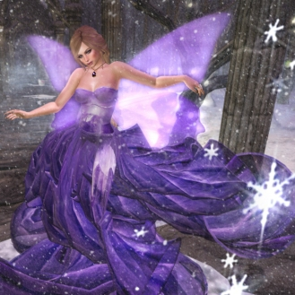 YOUR GIFT!! Star Angel Ultra Violet Gown with wings!