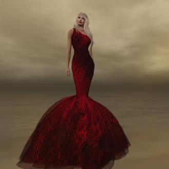 Paris METRO Couture_ Be Mine Mesh Mermaid Gown