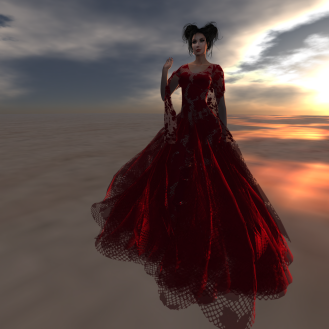Paris METRO Couture_ Catch Me Gown & Shaw with Appliers