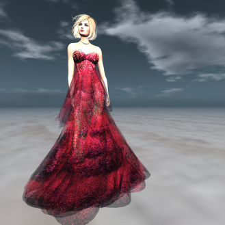 Paris METRO Couture_ Dior Gown ll with Appliers Coral