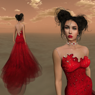 Paris METRO Couture_ Forget Me Not Gown with Appliers