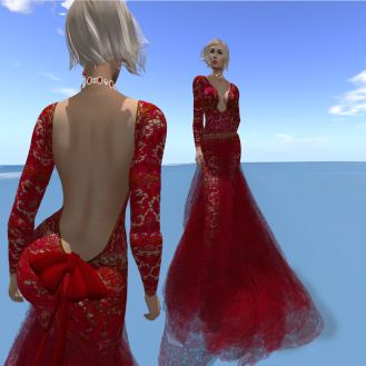 Paris METRO Couture_ Reach III Ruby Gown with Appliers