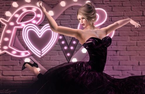 Paris METRO Couture Rosewood Gown