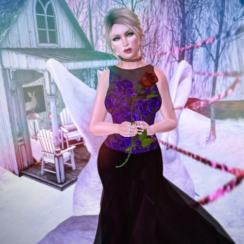 Paris METRO Couture Ultra Violet Love Gown
