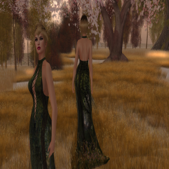 Paris METRO Couture_ Lace Up Forest Gown