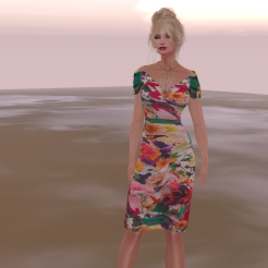 Paris METRO Couture_ Off Shoulder Flower Dress