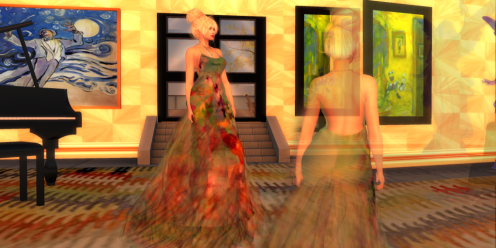 Paris METRO Couture_ Wild Bunch Flower Mesh Gown