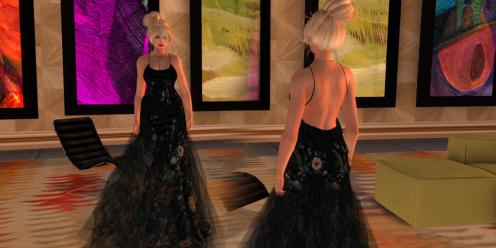 Paris METRO Couture_ Wild Flower Mesh Gown