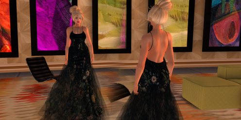 Paris METRO Couture_ Wild Flower Mesh Gown
