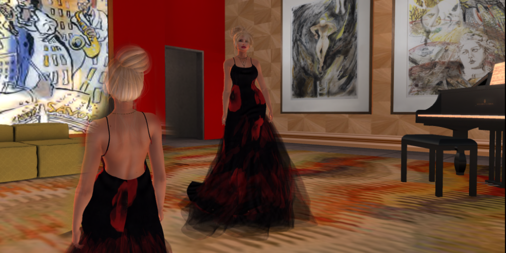 Paris METRO Couture_ Wild Poppy Flower Mesh Gown