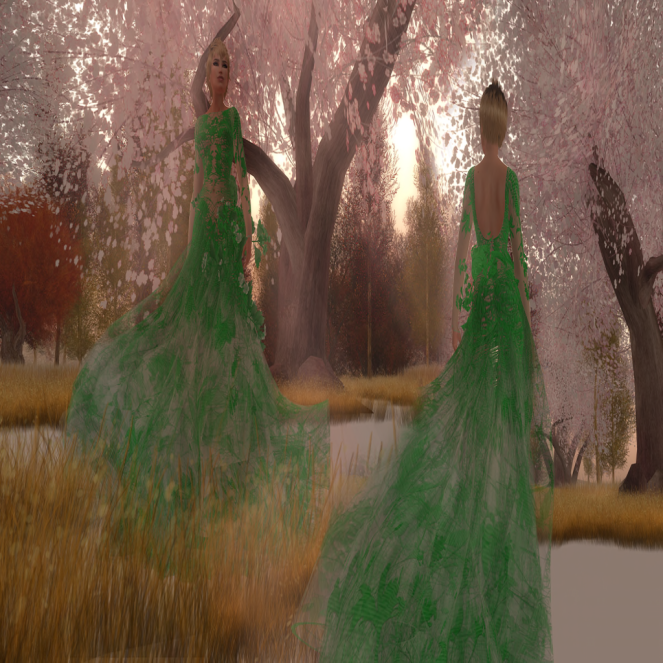 Paris METRO Couture_The Meadow in Green with Appliers