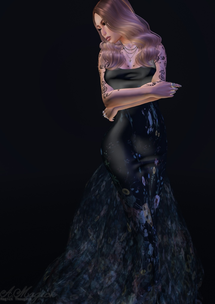 Wild Flower mesh gown