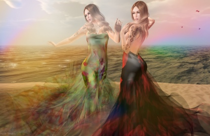 These are at Paris METRO Couture. The collection of threee beautiful gowns fit Belleza, Maitreya, Omega, Slink, TMP and your Classic Avatars. Each at the Collectors Intro of only 450L each. In Paris for a limited time
