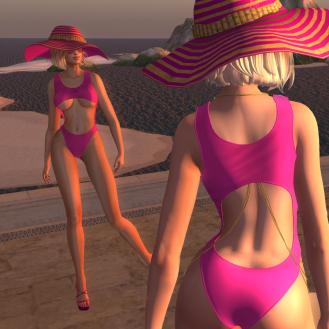 Paris METRO Couture_ Hot Pink Sea-Abstract Set