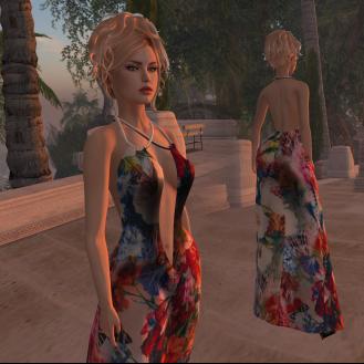 Paris METRO Couture_ Flower Breeze Mesh Gown