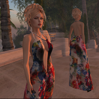 Paris METRO Couture_ Flower Breeze Mesh Gown