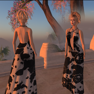 Paris METRO Couture_ Flower Wrap Mesh Gown