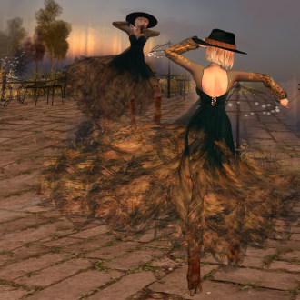 Paris METRO Couture_Sunflower Boho Dress BootsHat with Appliers