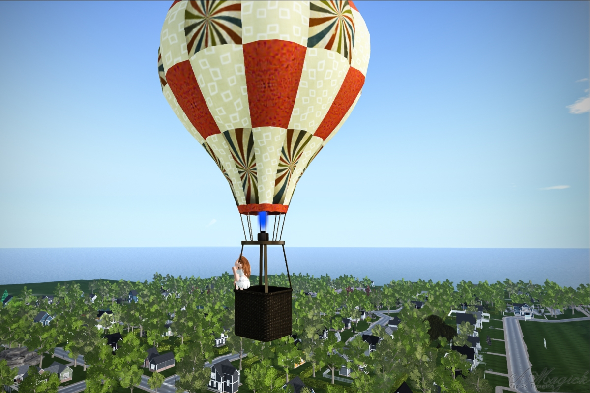 Balloon Ride Over Belliseria in Second Life